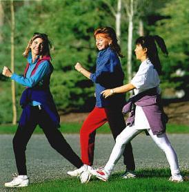 women walking