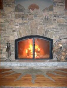 Lifebridge great room fireplace
