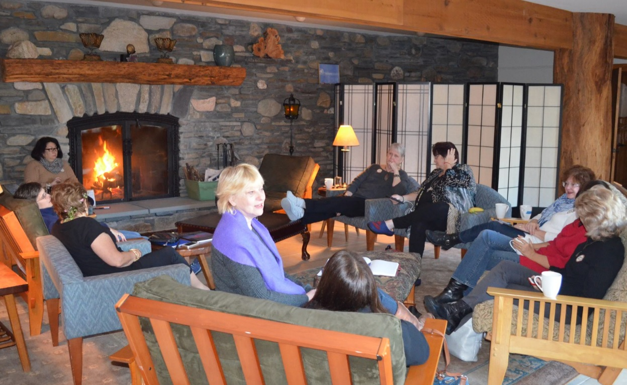 women's fireside discussion group