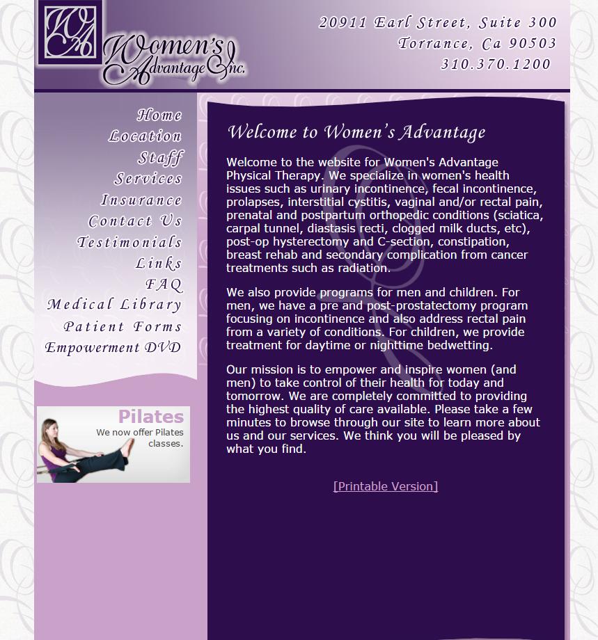 Women s Advantage old website