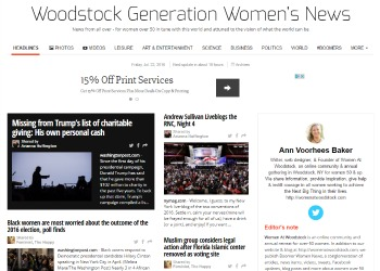 Woodstock Generation Women s News