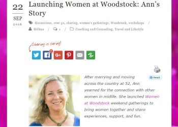 Next Act For Women article screenshot