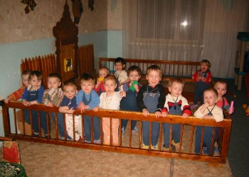 children in orphanage