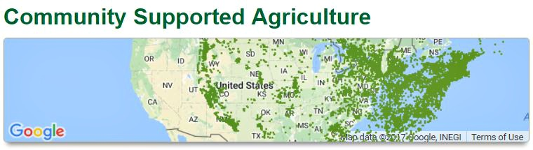 community supported agriculture map