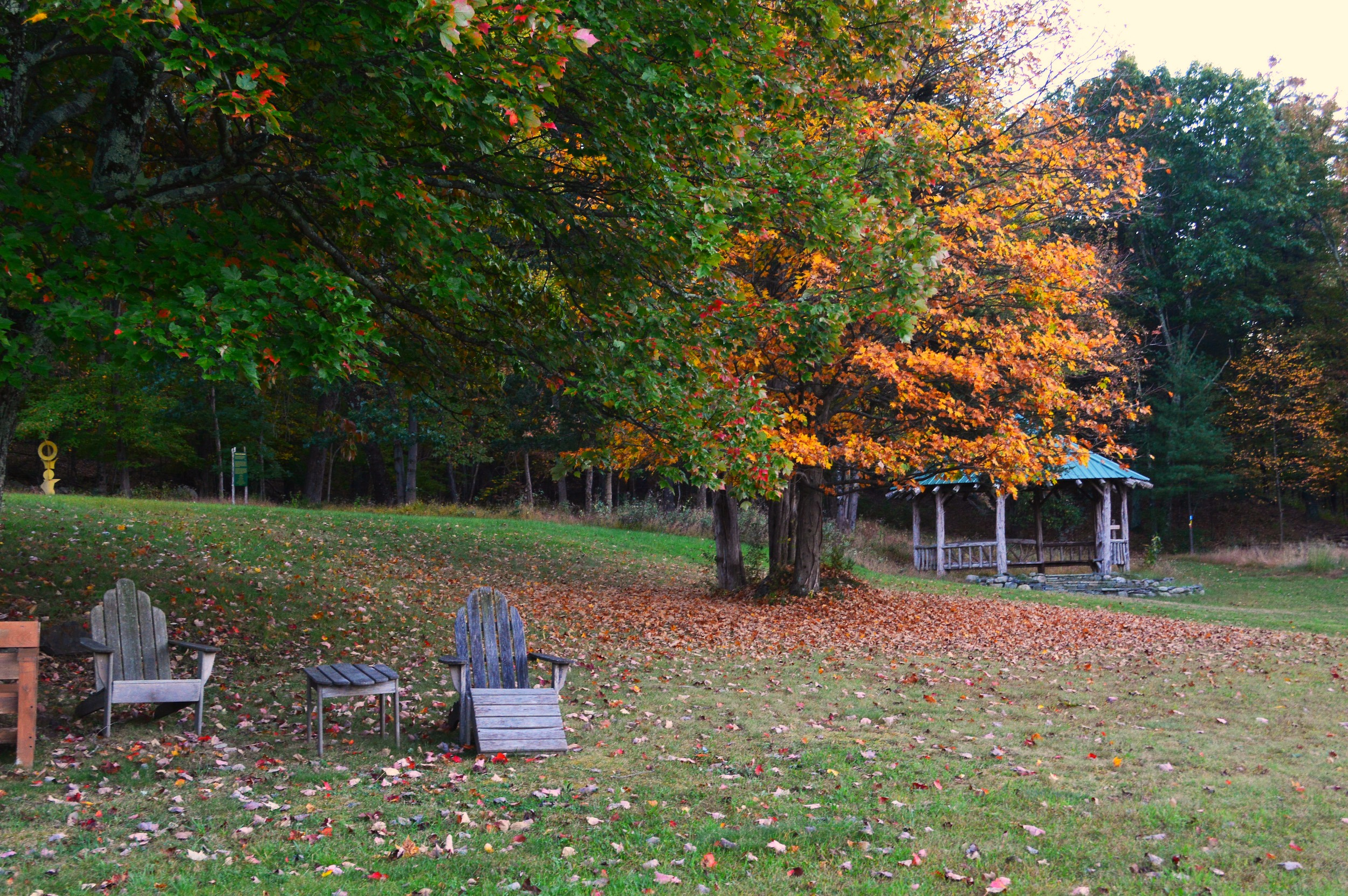 adirondack chairs & gazebo