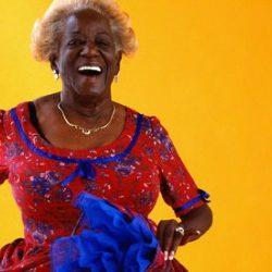 laughing older black woman