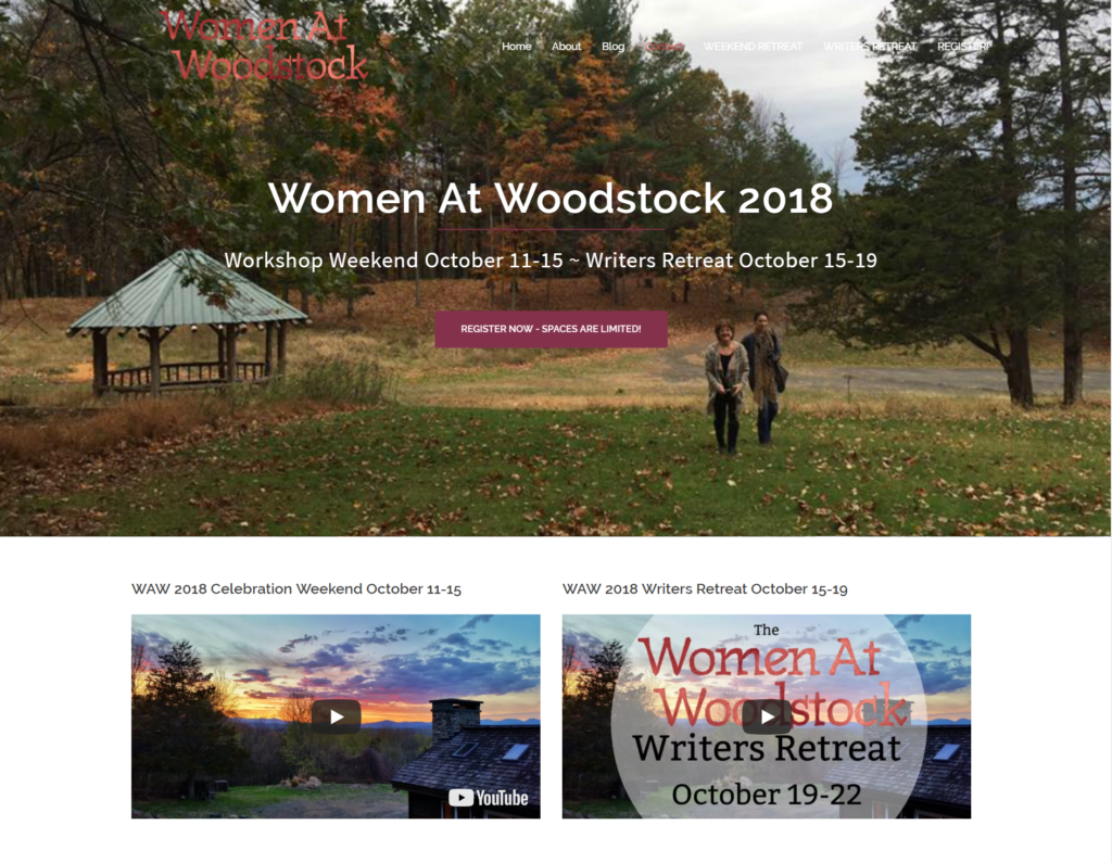 Website Home Page - Women At Woodstock