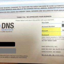 bogus bill from DNS Services