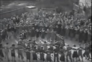 large group dancing the hora