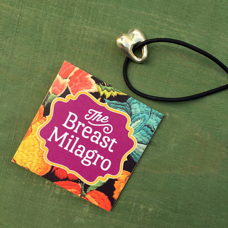 Breast Milagro necklace