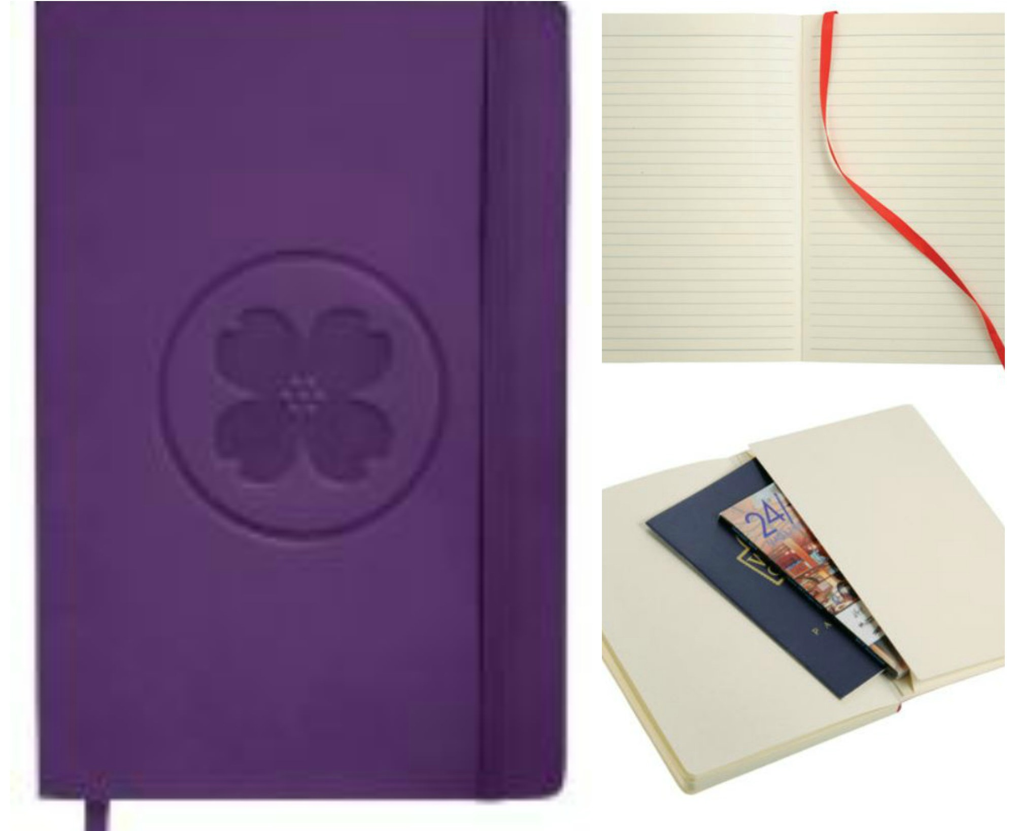 soft-cover journal purple